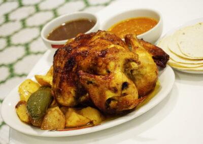 Pollo rostizado Gran Café de La Parroquia