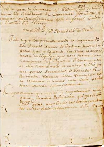 Padron de 1791 - gran Cafe de la parroquia